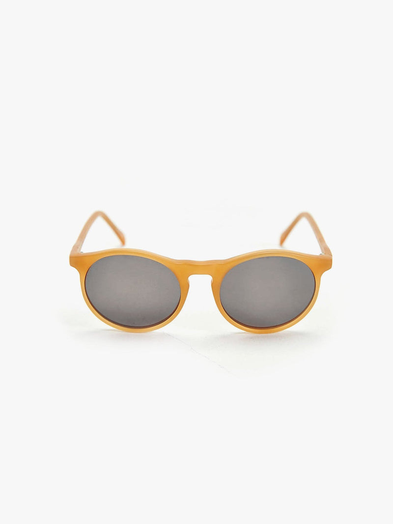 Matte Honey Round Sunglasses