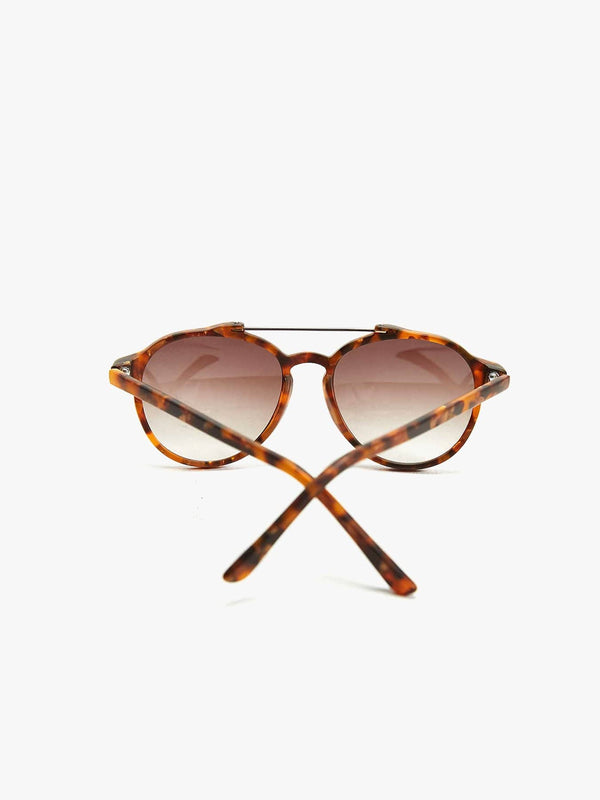 Matte Tort Brow Bar Aviator Sunglasses (596830212)