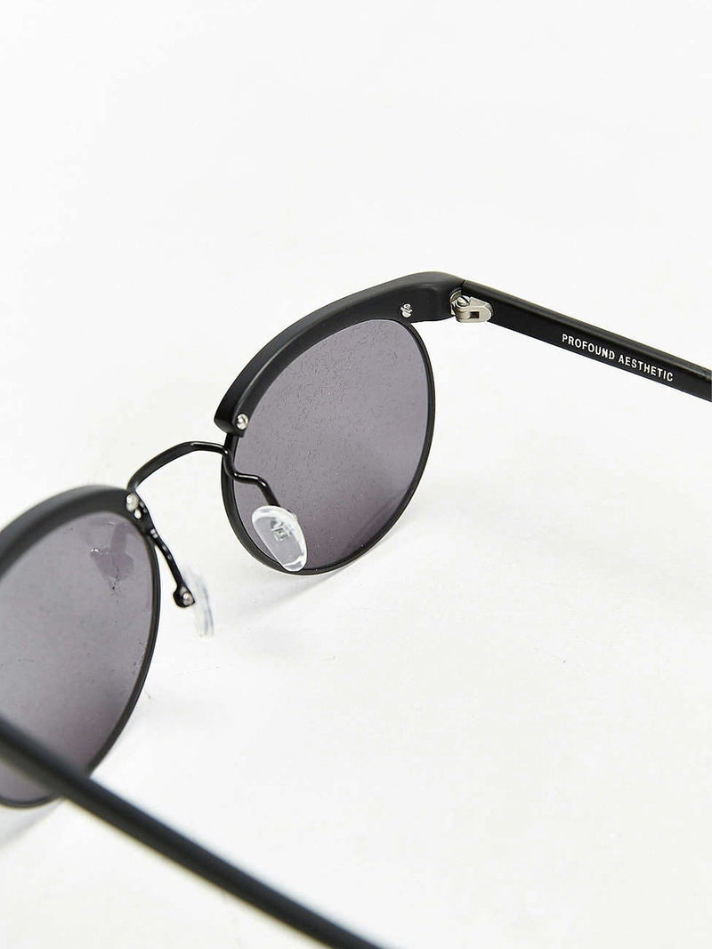 Matte Black Bold Brow Sunglasses