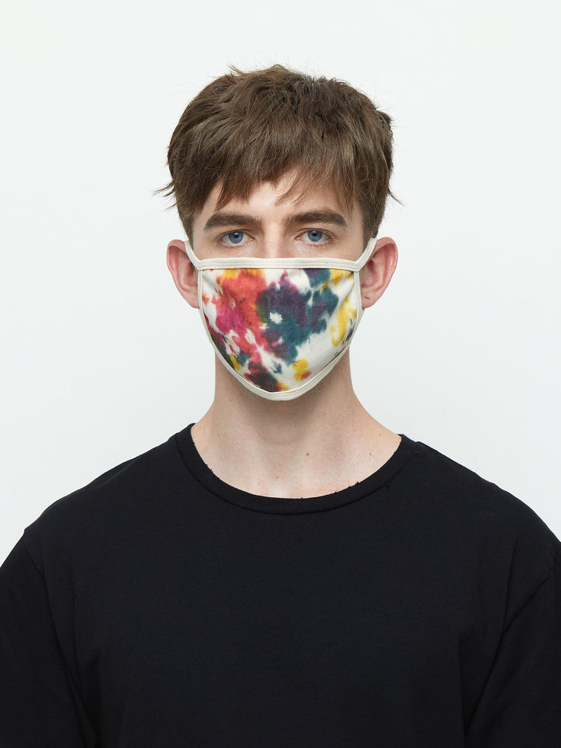 Ink Splatter Tie Dye Face Mask