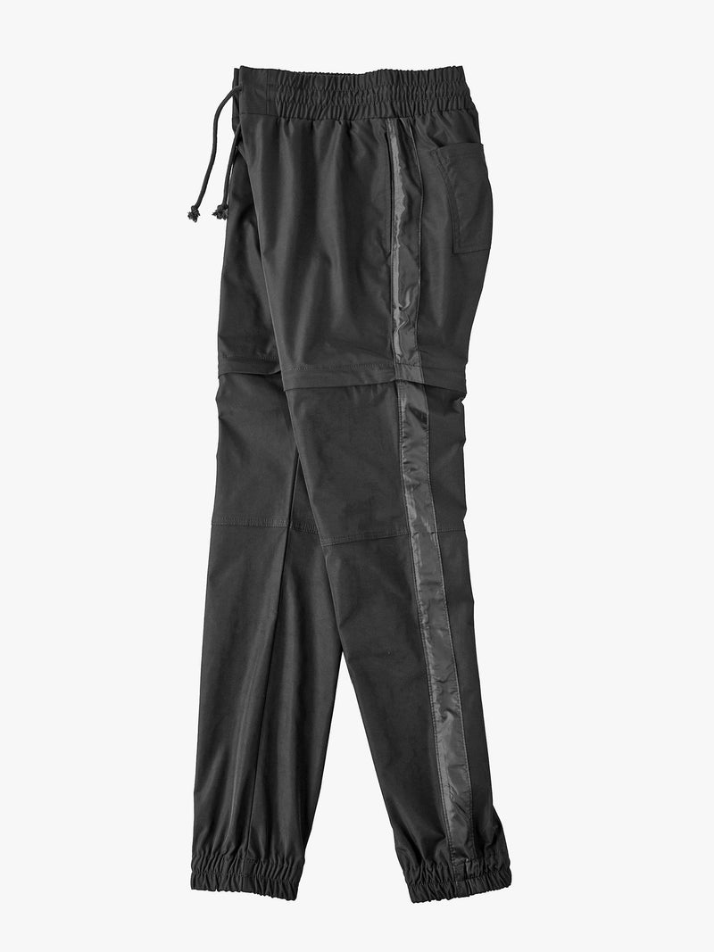 Windbreaker Nylon Detachable Track Pants Black