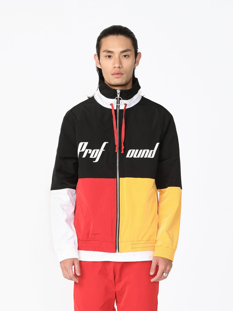 Color Blocked Three Tone Windbreaker Jacket