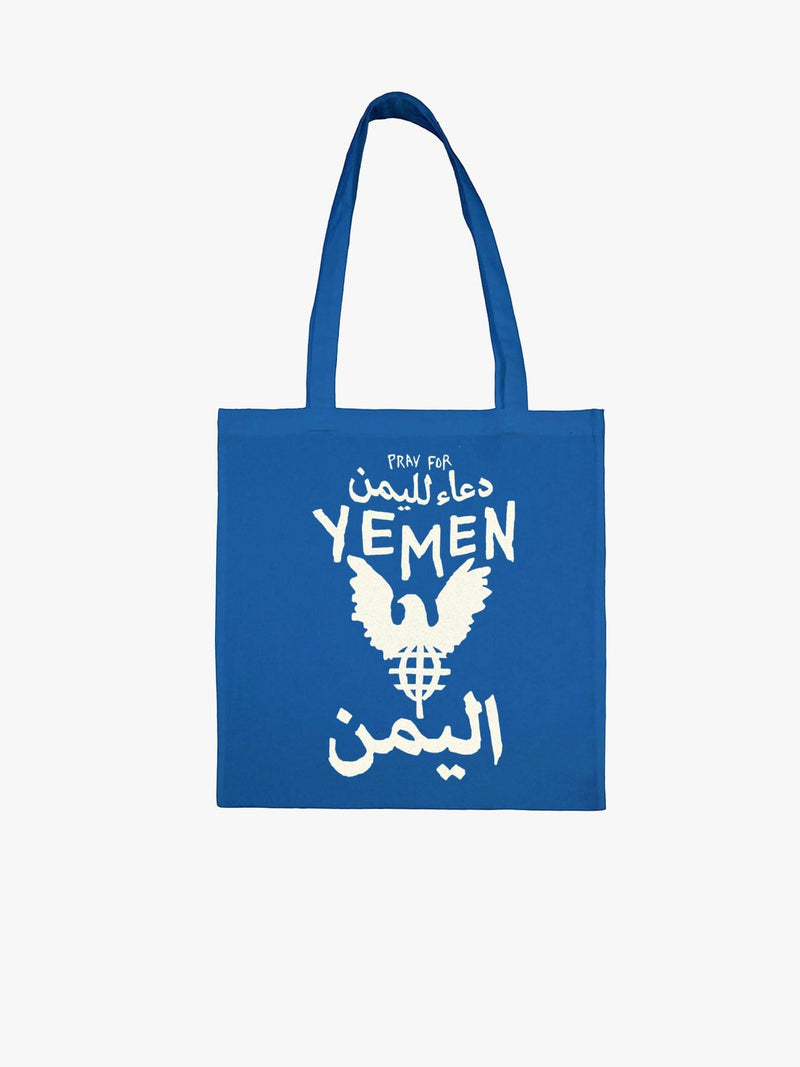 Cause | Pray for Yemen Canvas Tote Bag in Royal Blue (4725918892103)