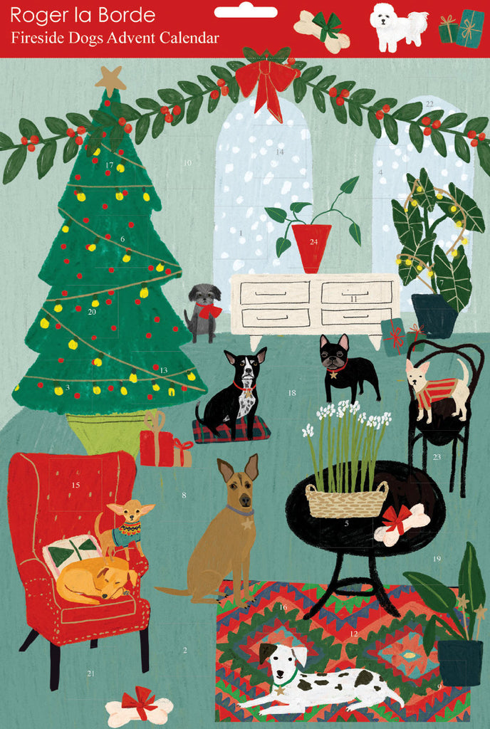 Roger la Borde Cat and Dog Palais Advent calendar featuring artwork by Anne Bentley