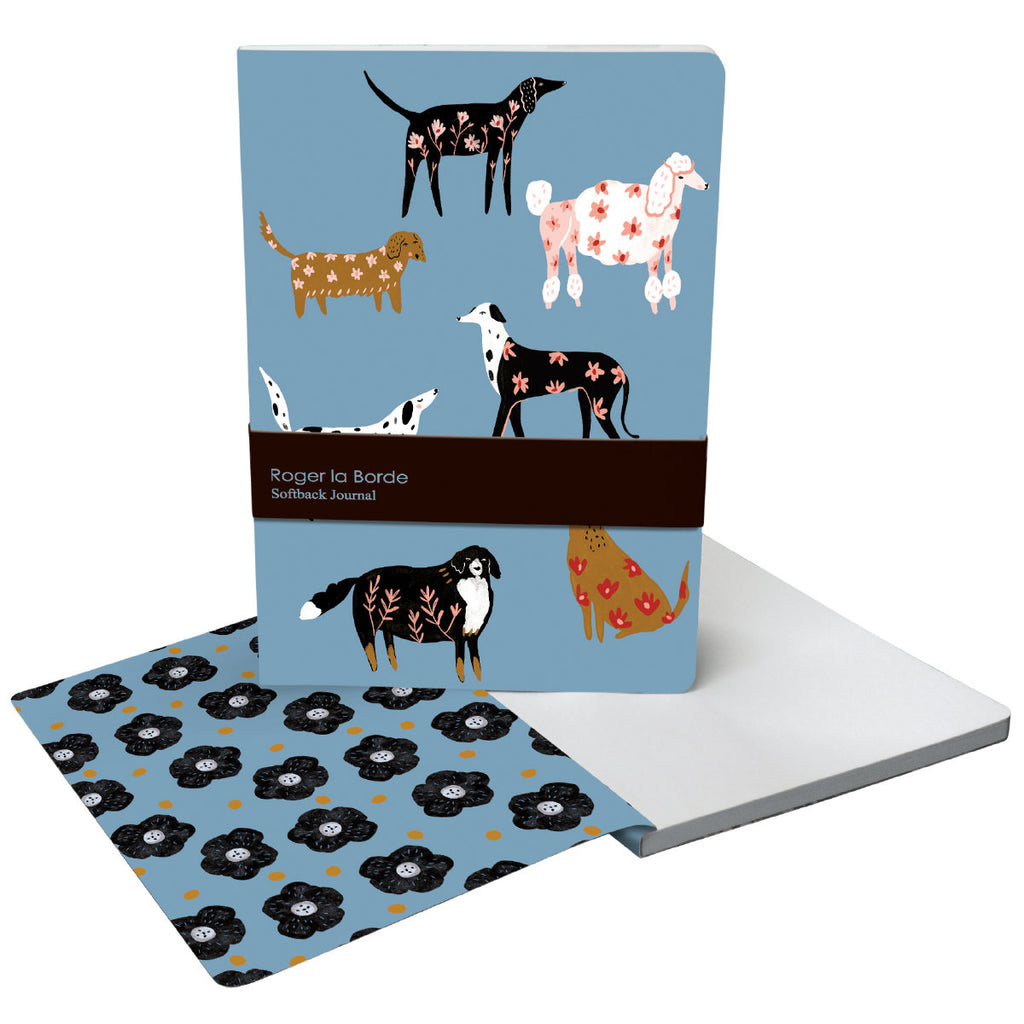 Roger la Borde Cinnamon and Ginger A5 Softback Journal featuring artwork by Holly Jolley
