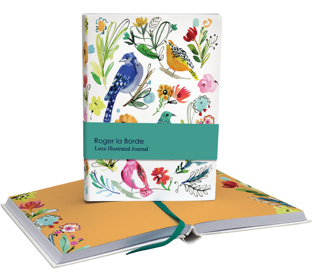 Roger la Borde Wild Batik Softback journal featuring artwork by Jennifer Orkin Lewis