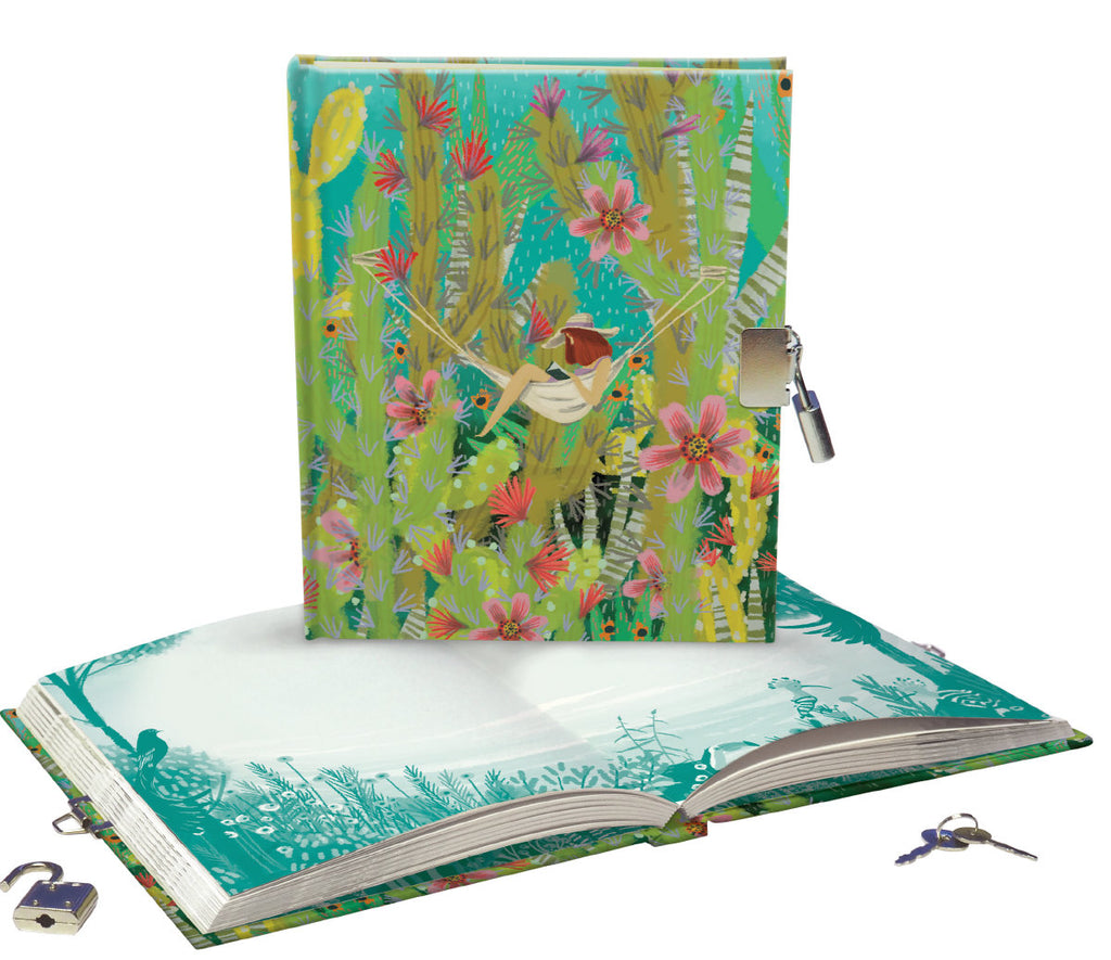 Roger la Borde Summertime Lockable notebook featuring artwork by Jane Newland