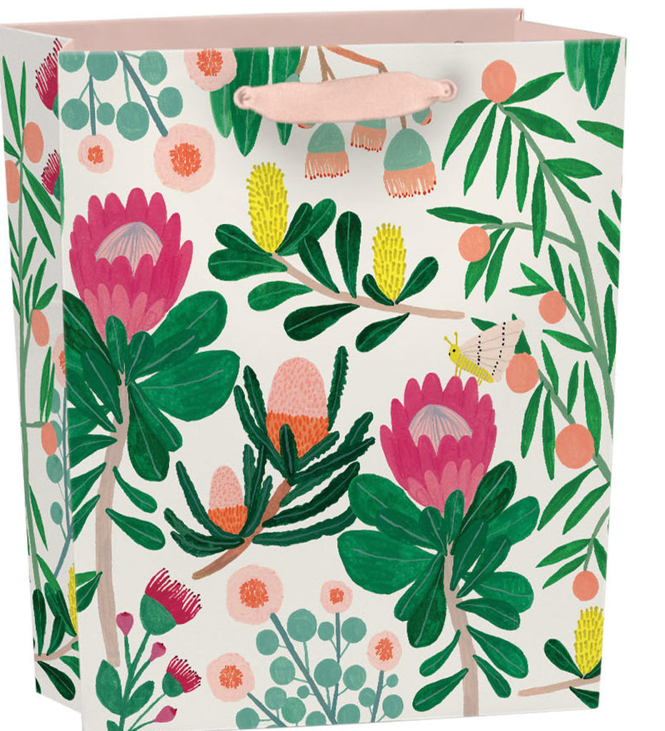 Roger la Borde King Protea Gift bag : small featuring artwork by Kate Pugsley