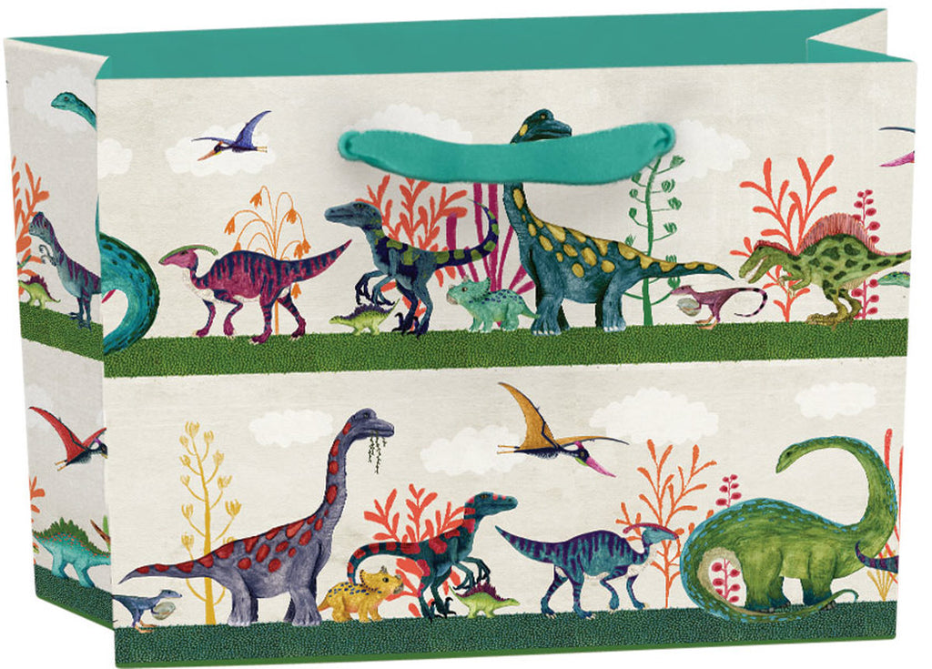 Roger la Borde Dino Mighty Gift bag: small landscape featuring artwork by Katherine Quinn