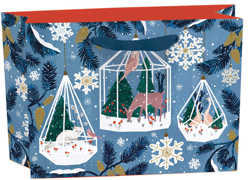 Roger la Borde Winter Garden Gift bag: small landscape featuring artwork by Antoana Oreski