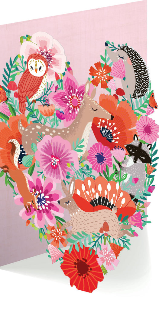 Roger la Borde Summer Forrest Lasercut card featuring artwork by Antoana Oreski