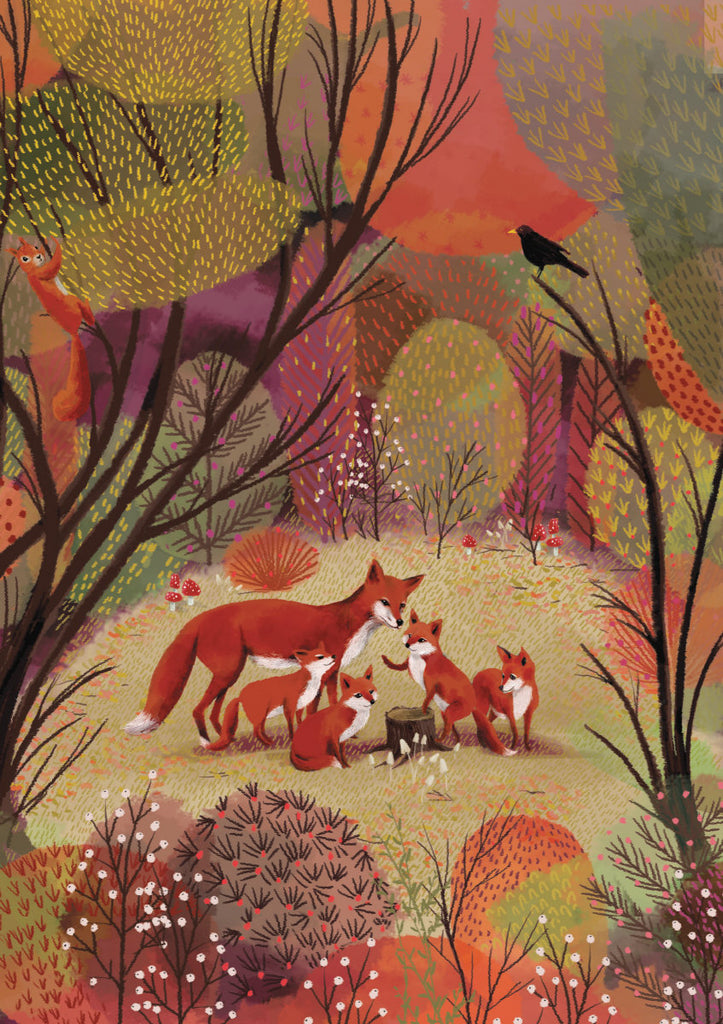 Roger la Borde Summertime Standard card featuring artwork by Jane Newland