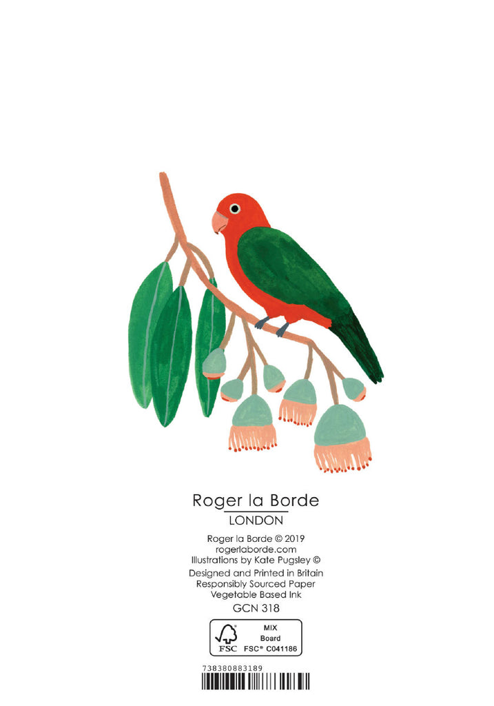 Roger la Borde Chicago School Petite Card featuring artwork by Kate Pugsley
