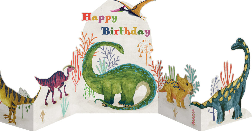 Roger la Borde Dino Mighty Quintet Card featuring artwork by Katherine Quinn