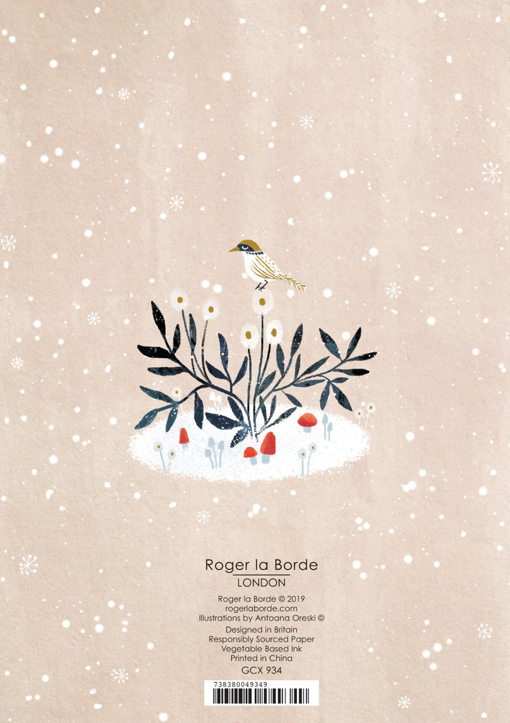 Roger la Borde Winter Garden Standard card featuring artwork by Antoana Oreski