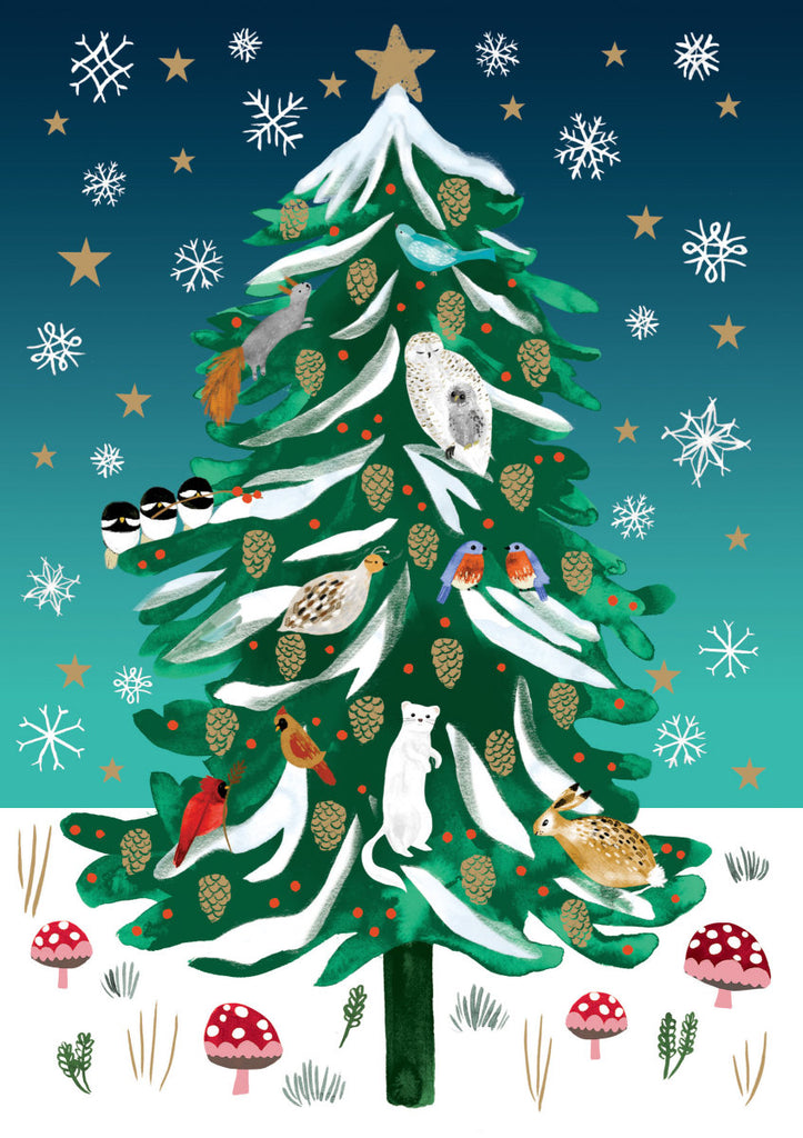 Roger la Borde Christmas Conifer Standard card featuring artwork by Katie Vernon