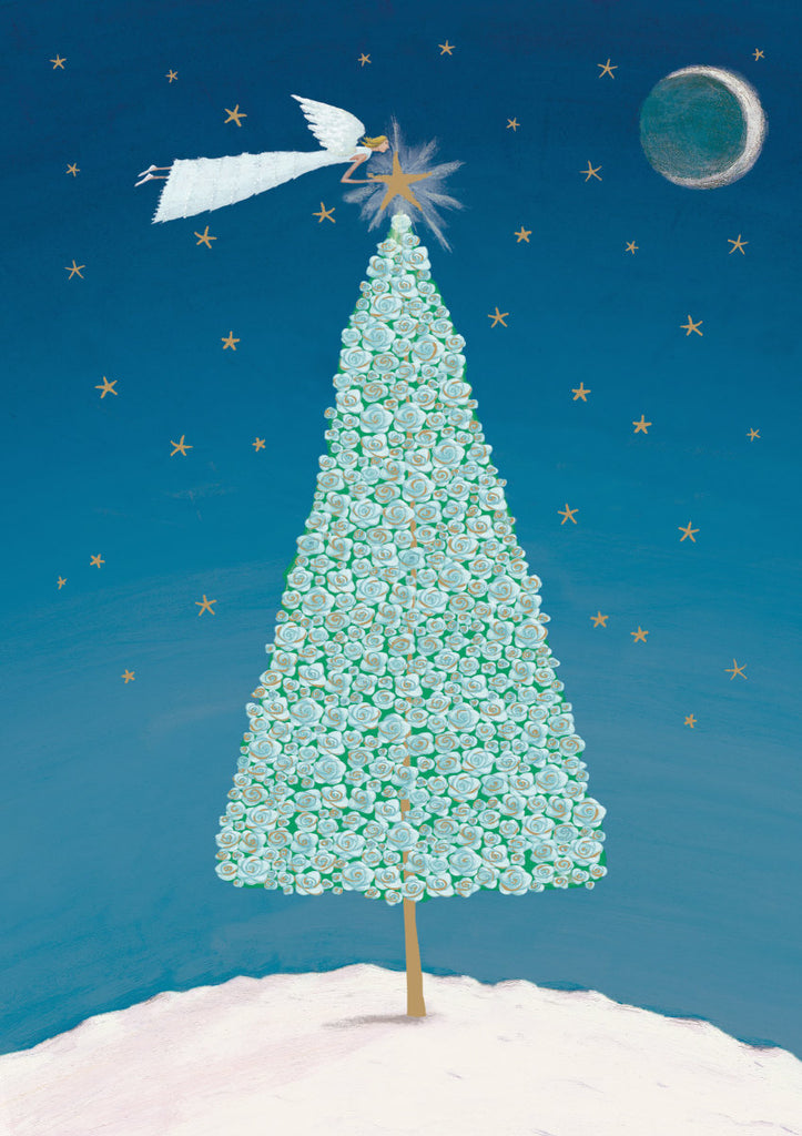 Roger la Borde Christmas Tree Standard card featuring artwork by Mary Claire Smith