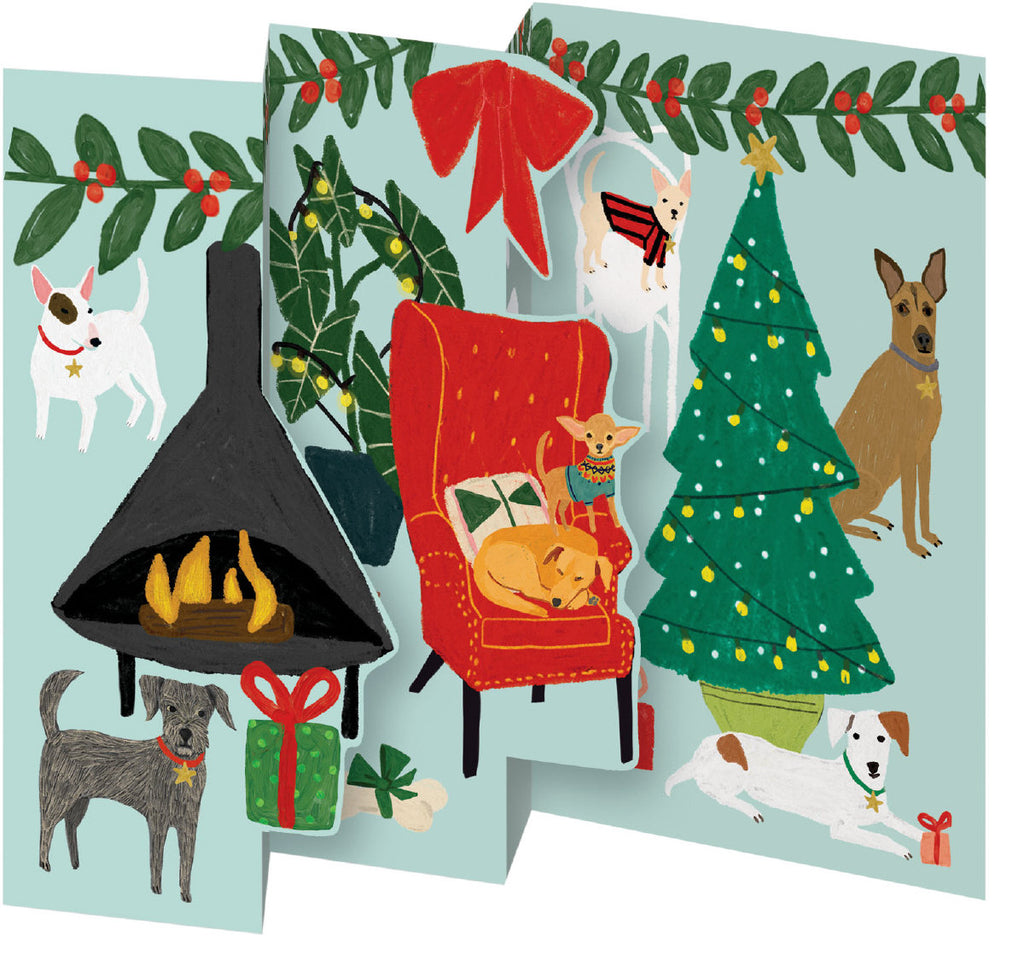 Roger la Borde Cat and Dog Palais Notecard Pack (5 tri-fold cards) featuring artwork by Anne Bentley