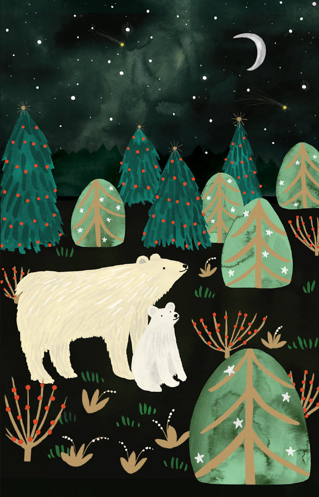 Roger la Borde Northern Lights Notecard pack featuring artwork by Katie Vernon