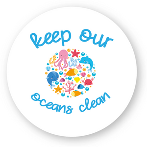 "Stickers ""Keep our oceans clean"""