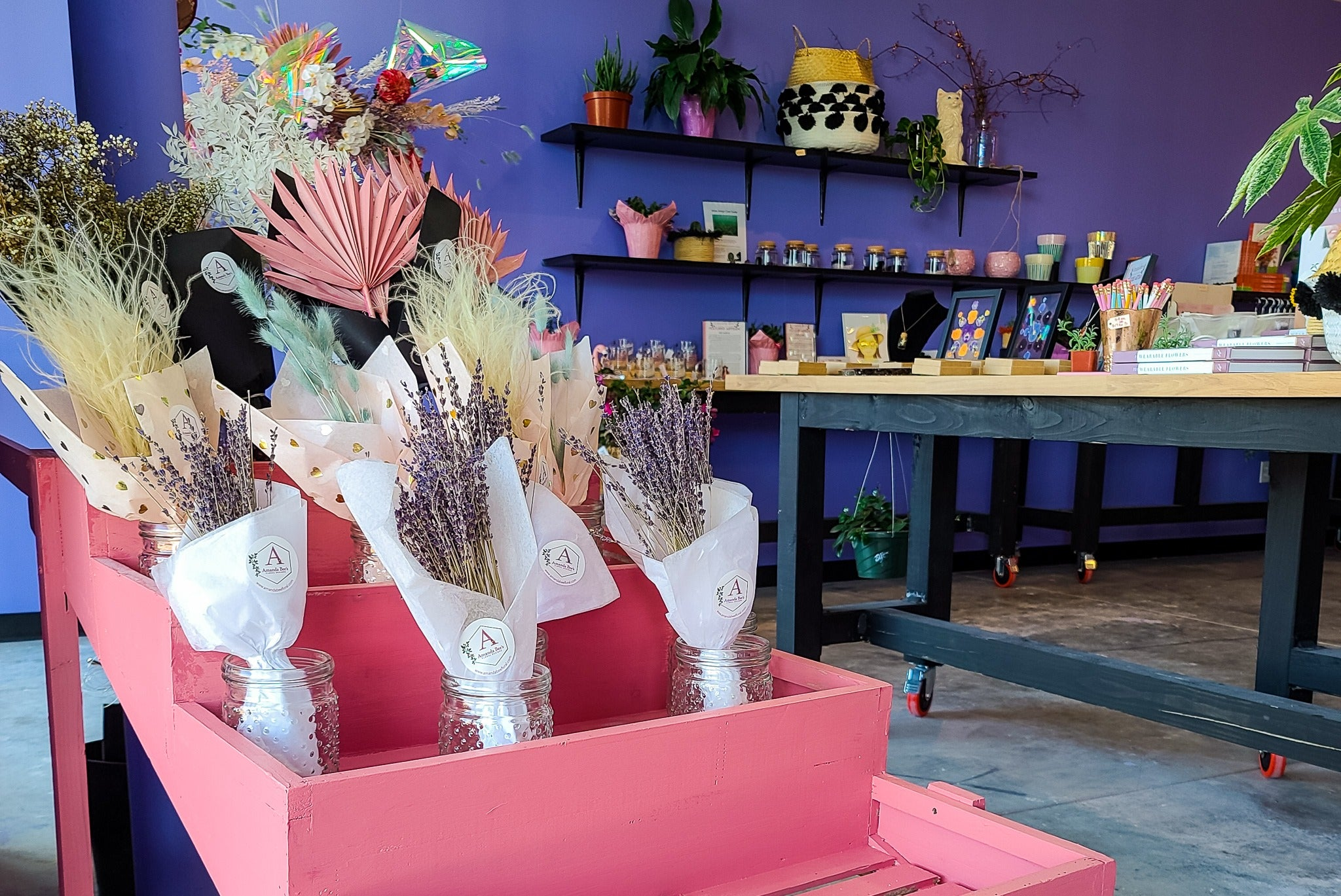 Inside flower and gift shop in Cypress