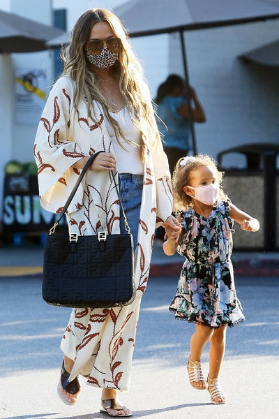 Chrissy Teigen's White Printed Kimono Duster - September 6, 2020