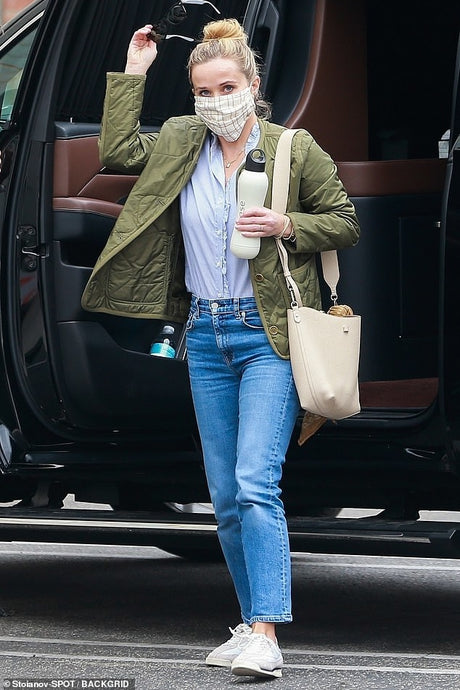 Reese Witherspoon's Casual White Sneakers - October 23, 2020