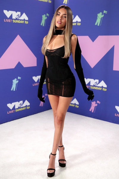 Madison Beer's Sexy Black Mini Dress For MTV's Video Music Awards - August 30, 2020