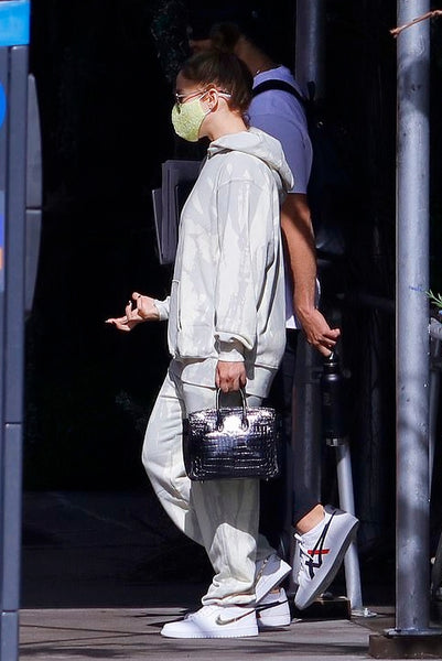 Jennifer Lopez's White Tie Dye Hooded Sweatshirt - September 9, 2020
