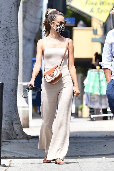 Alessandra Ambrosio's Neutral Toned Jumpsuit - July 26, 2020