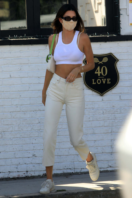 Kendall Jenner's Clean White Monochromatic Outfit - August 13, 2020