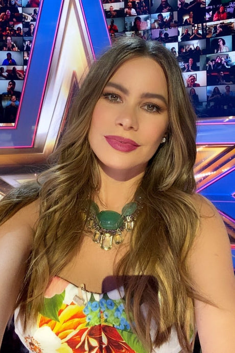 Sofia Vergara's Floral Strapless Dress On America's Got Talent - August 12, 2020