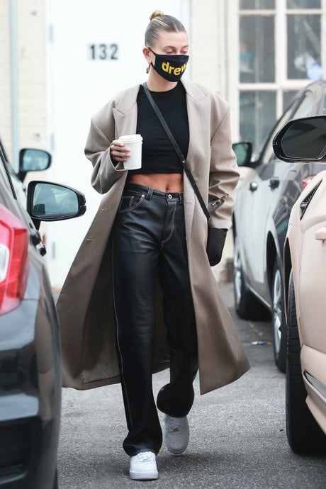 Hailey Bieber's Edgy Leather Pants - June 28, 2020