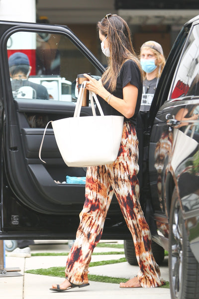 Alessandra Ambrosio's Printed Pants - August 13, 2020