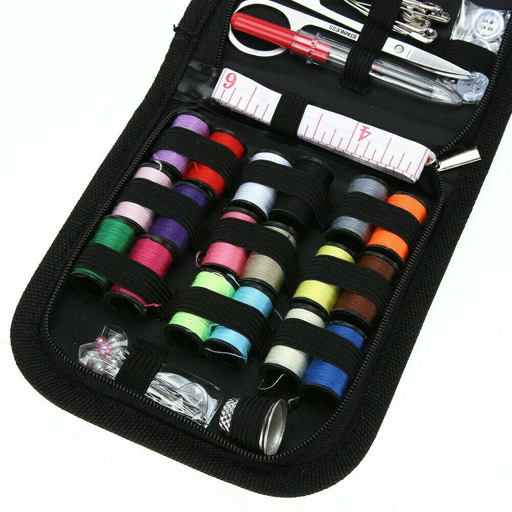 Various Box Bag Sewing Set Thread Stitches Needles Tools Kit Clothes UK POST