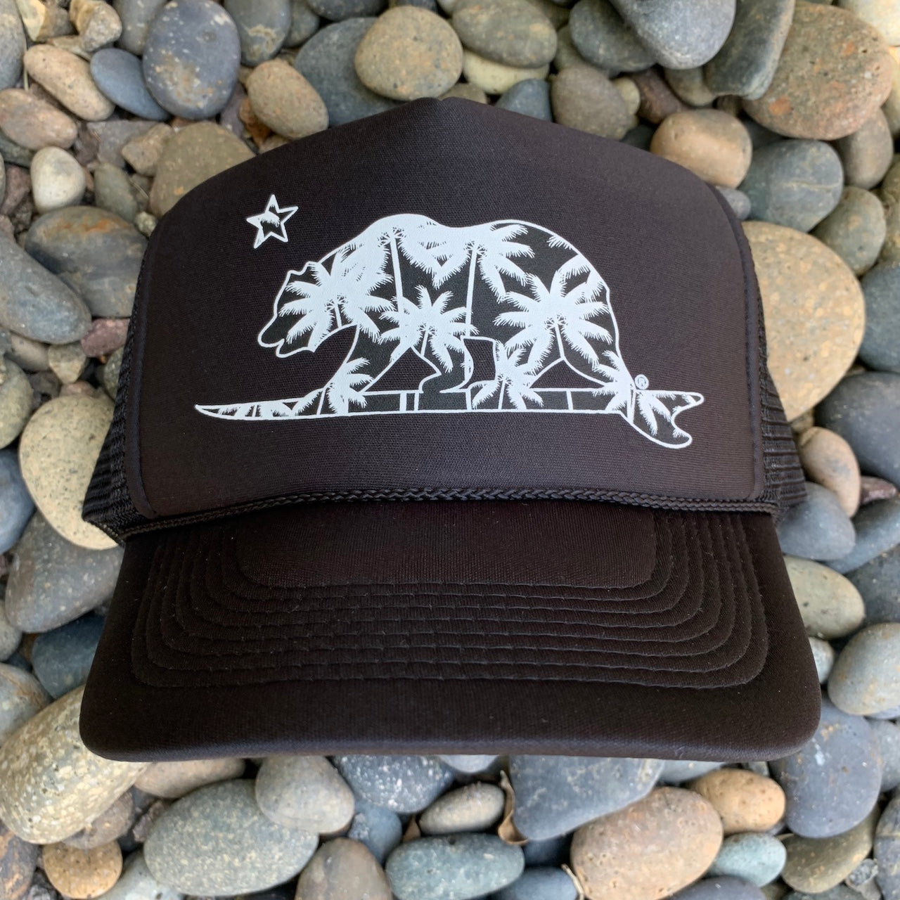 Palm Tree Surfing Bear® Trucker Hat