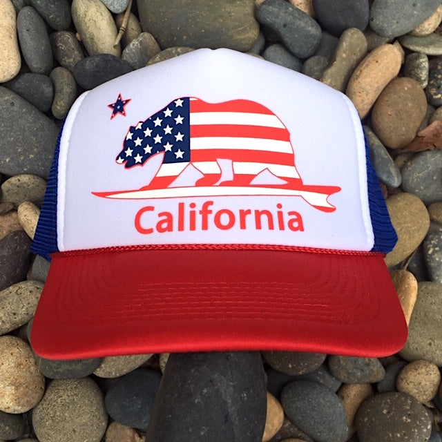 American Surf Bear® - California - Trucker hat