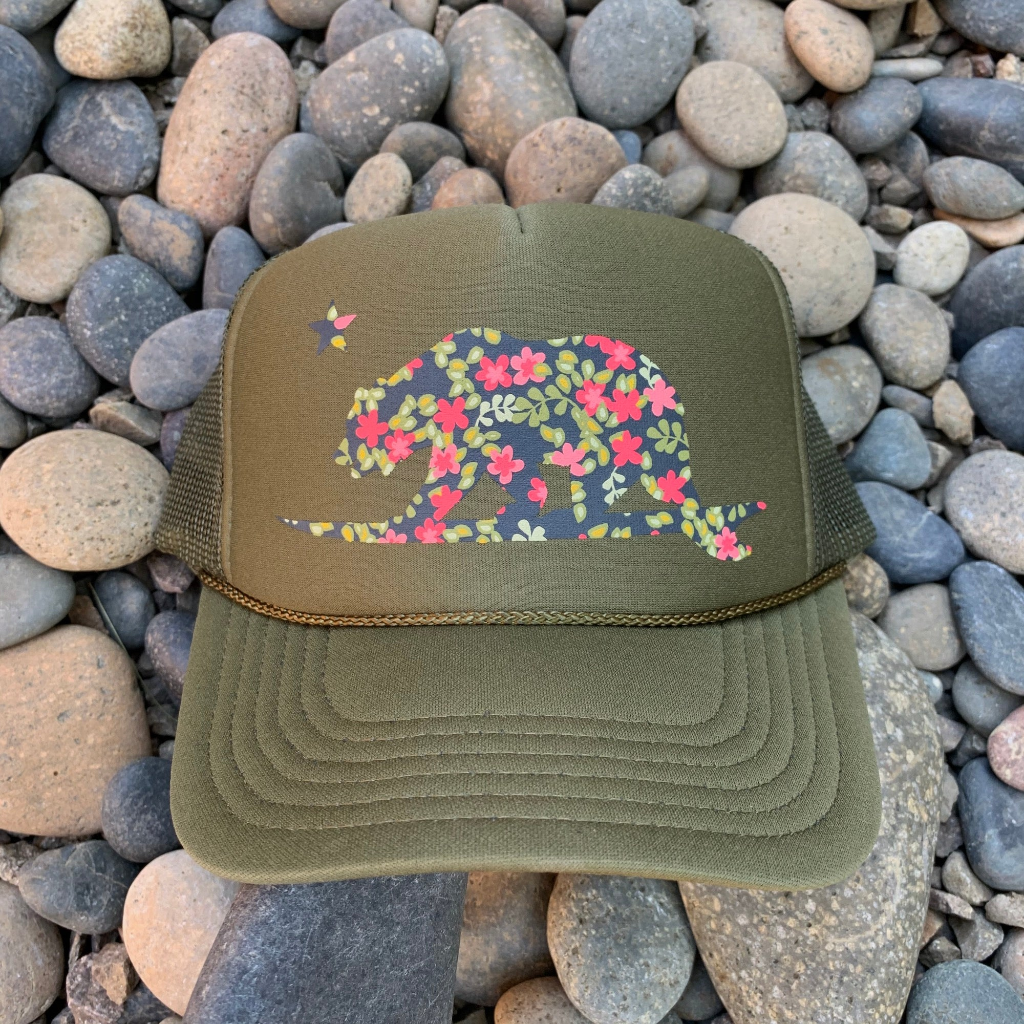 Floral Surf bear® Trucker Hat