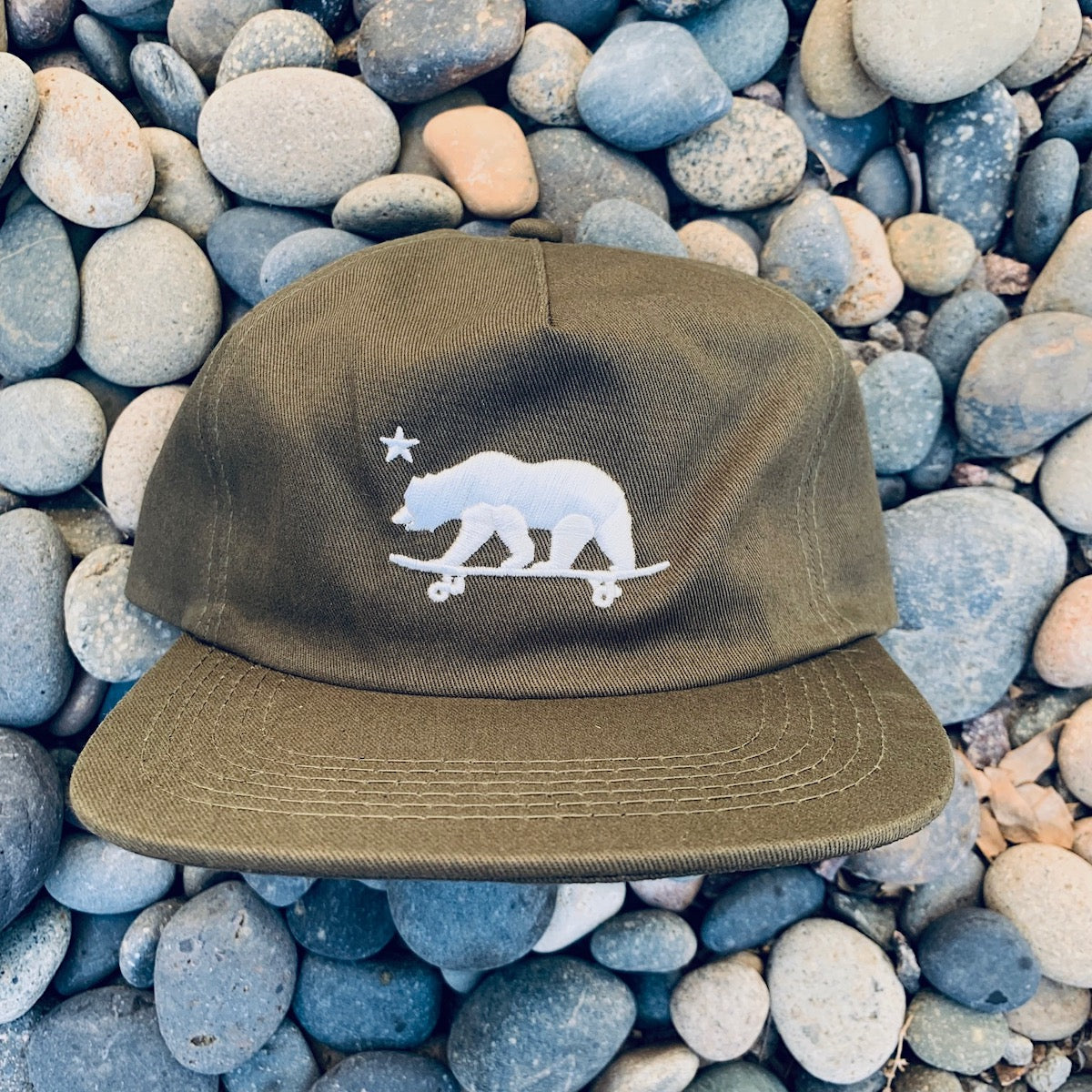 California skateboarding bear - embroidered Hat