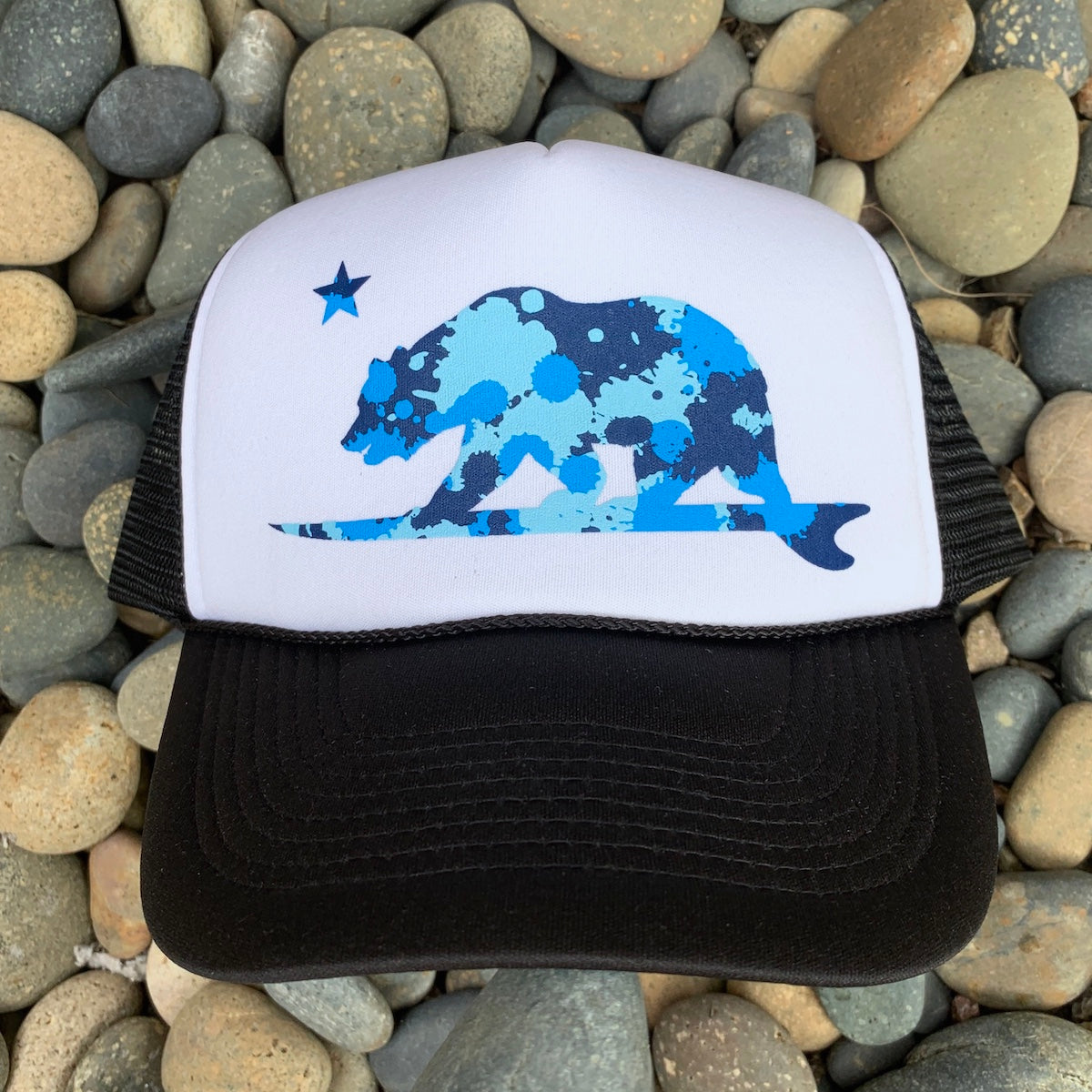 Blue Camo Surf bear® hat