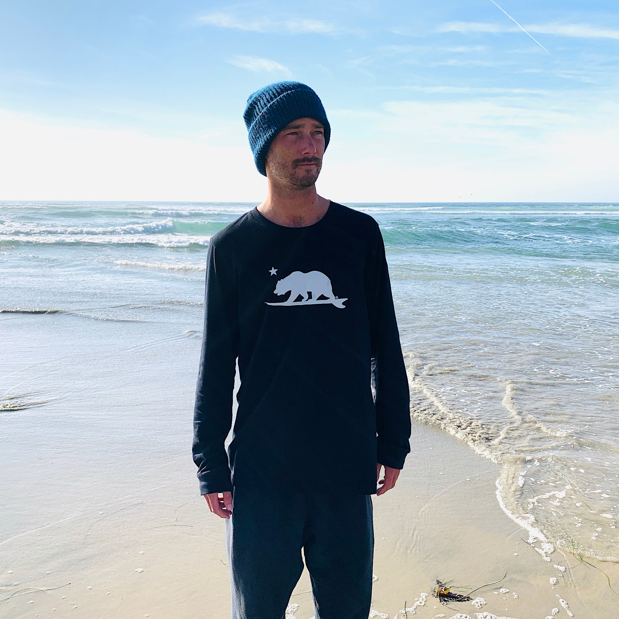 California Surf Bear® Long sleeve T-shirt