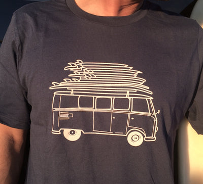 Surf Bus T-Shirt closeup