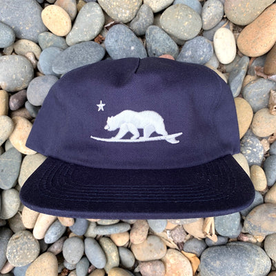 California Surfing Bear bear - embroidered hat