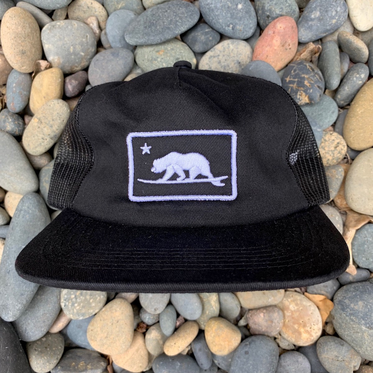 California Surfing Bear - patch hat
