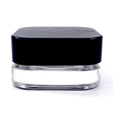 7ml Square Glass Concentrate Jar - Child Resistant Lid - 420ct