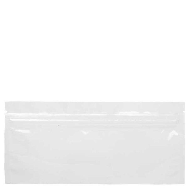 "6"" x 2.7"" Mylar Zip Bag - White / Clear"