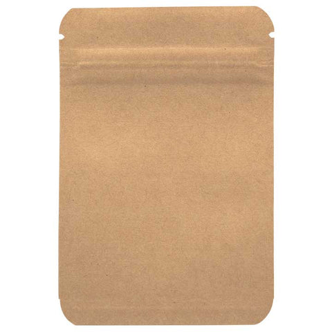 1 Gram Smell Proof Bags - Kraft / Kraft