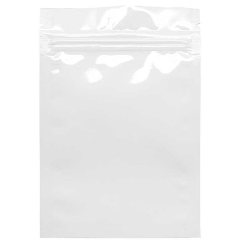 1 Gram Smell Proof Bags - White / Clear