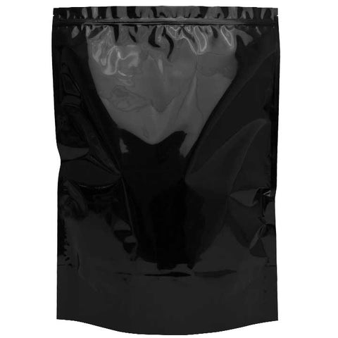 1 lb Mylar Bags - Black / Clear