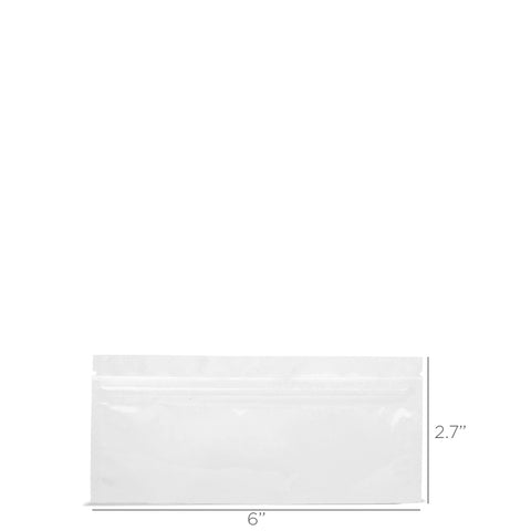 Pre-Roll Mylar Zip Bag - White / Clear